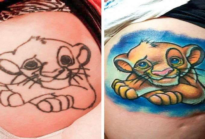 Qualquer tatuagem ruim pode ser transformada em uma pequena obra-prima (17 fotos) 11
