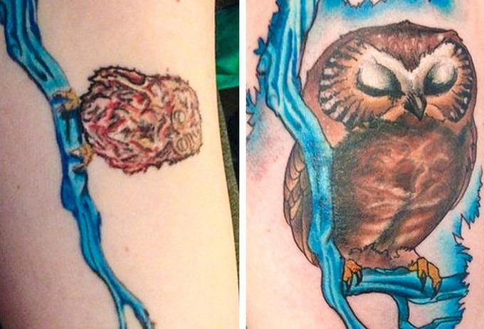 Qualquer tatuagem ruim pode ser transformada em uma pequena obra-prima (17 fotos) 12