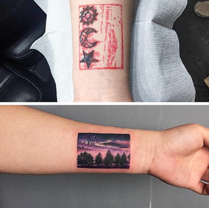 Qualquer tatuagem ruim pode ser transformada em uma pequena obra-prima (17 fotos) 13