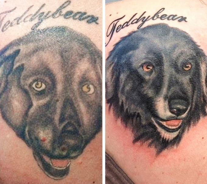 Qualquer tatuagem ruim pode ser transformada em uma pequena obra-prima (17 fotos) 16