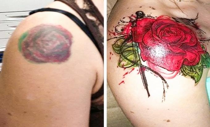 Qualquer tatuagem ruim pode ser transformada em uma pequena obra-prima (17 fotos) 18