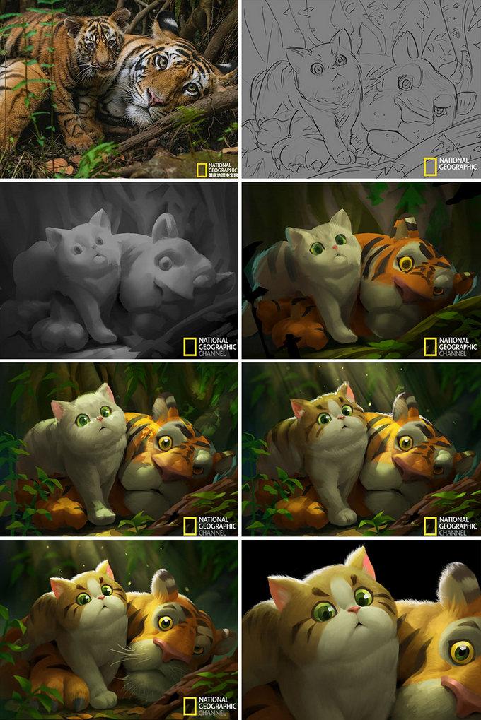 Artista transforma imagens da National Geographic em ilustrações adoráveis (9 fotos) 6