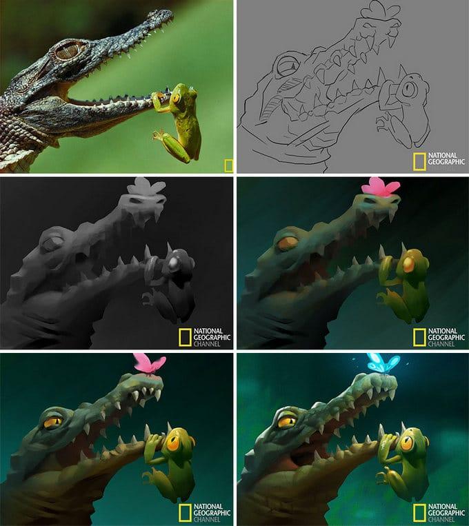 Artista transforma imagens da National Geographic em ilustrações adoráveis (9 fotos) 9