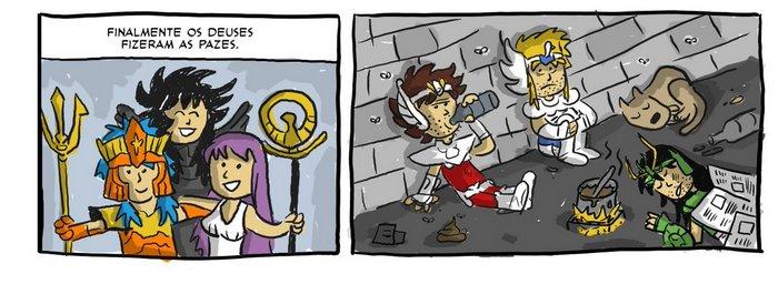 O que seriam dos Cavaleiros do Zodíaco se os deuses fizessem as pazes? 3