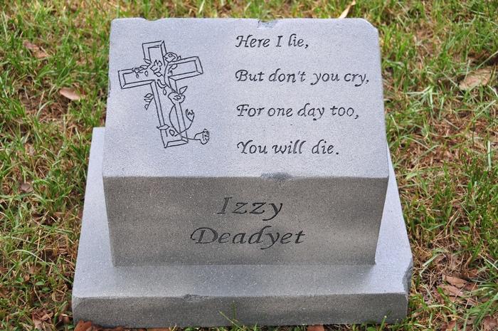 Aqui me deito, Mas não chore, Pois um dia também, Você morrerá