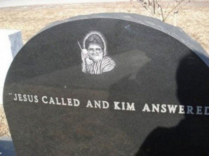 Jesus ligou e Kim respondeu