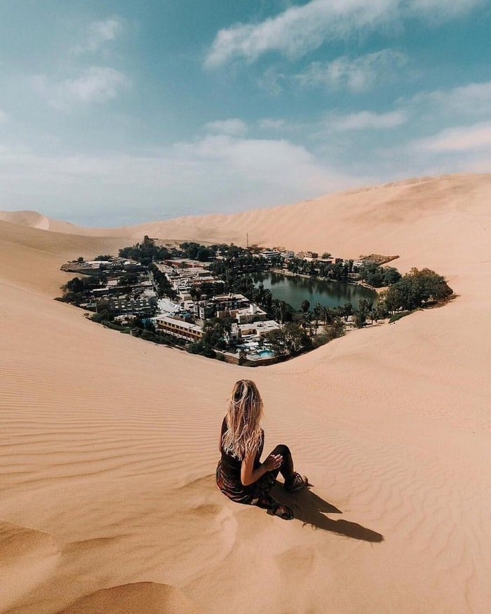 Huacachina, um oásis do deserto alienado no Peru