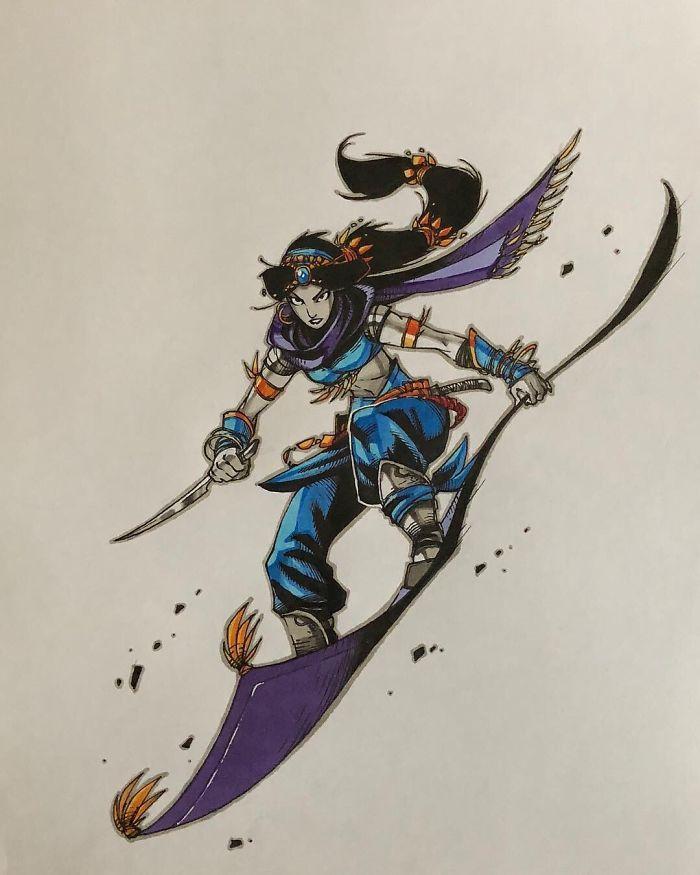 Jasmine Flying no Tapete