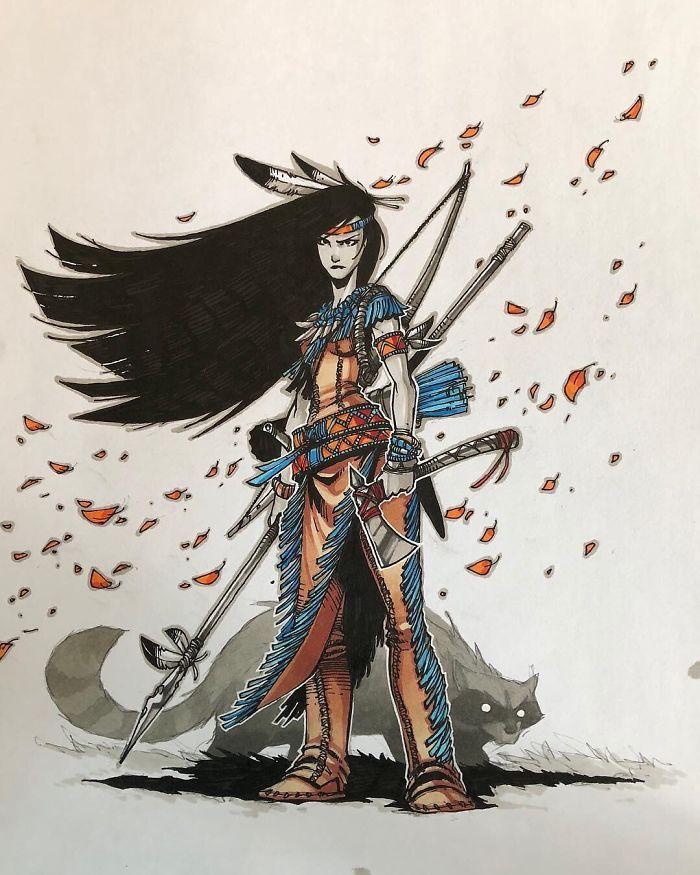Pocahontas e um meeko raivoso