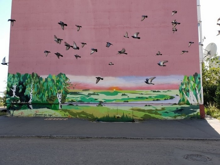 Os pássaros fizeram esta foto perfeita