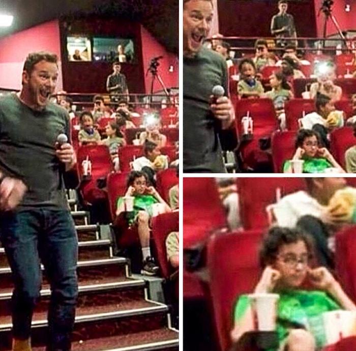 Quando Chris Pratt faz uma aparição no cinema, mas você está louco para assistir o filme