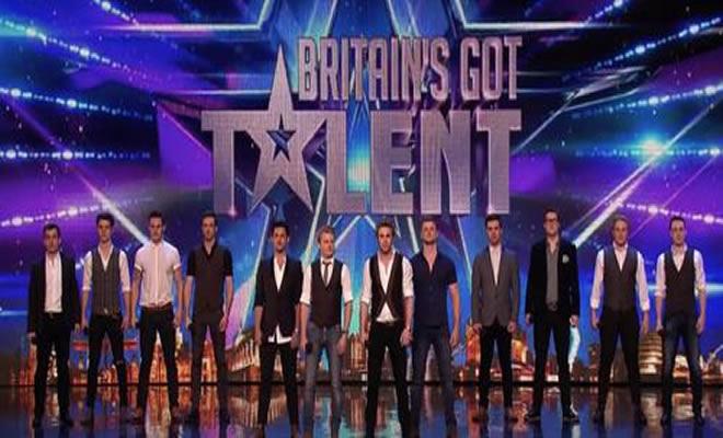 Um grupo só de homens no America's Got Talent 1