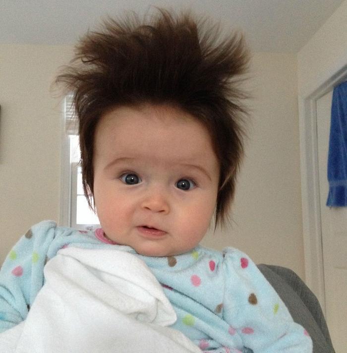 17 fotos de bebês cabeludos e enlouquecem a Internet 5
