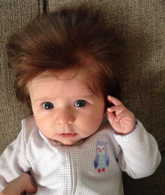 17 fotos de bebês cabeludos e enlouquecem a Internet 10