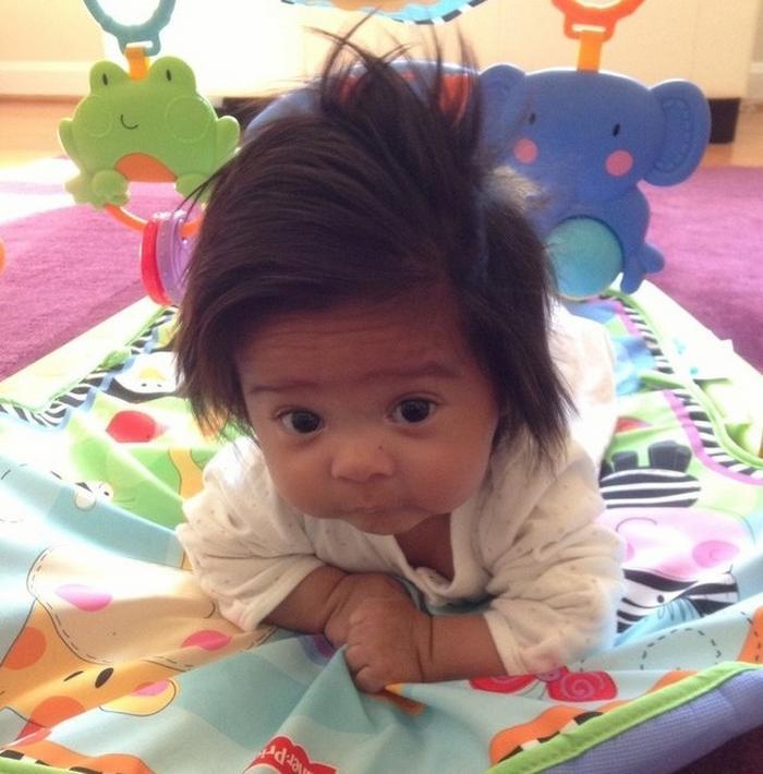 17 fotos de bebês cabeludos e enlouquecem a Internet 14