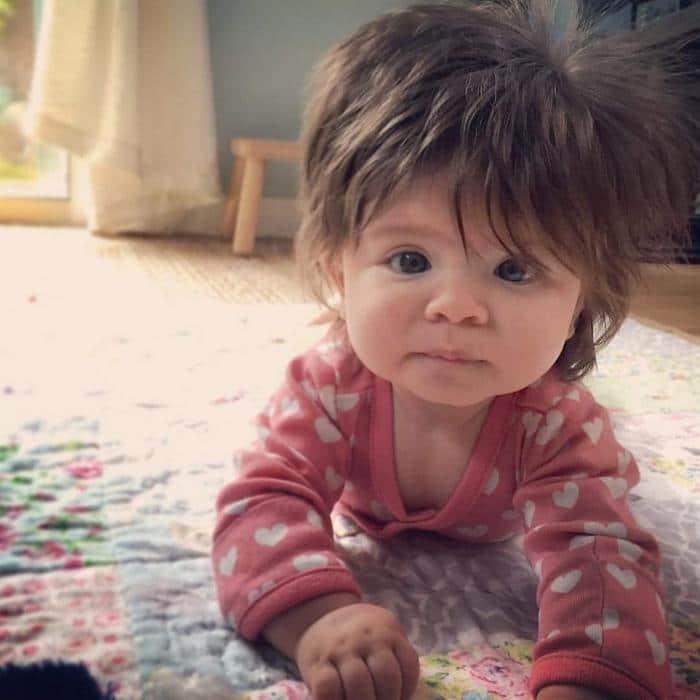 17 fotos de bebês cabeludos e enlouquecem a Internet 16