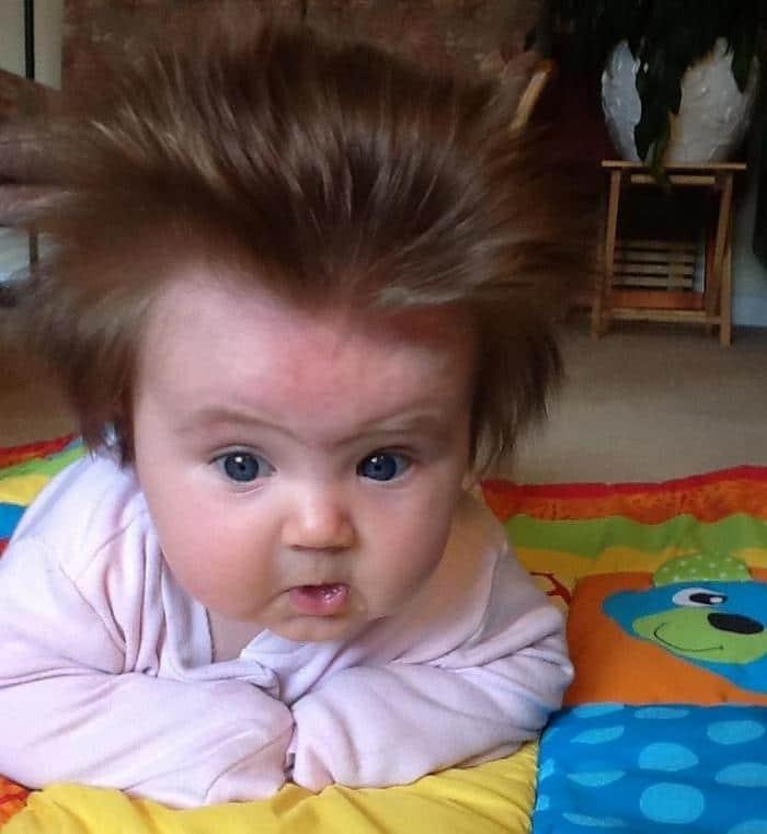 17 fotos de bebês cabeludos e enlouquecem a Internet 17