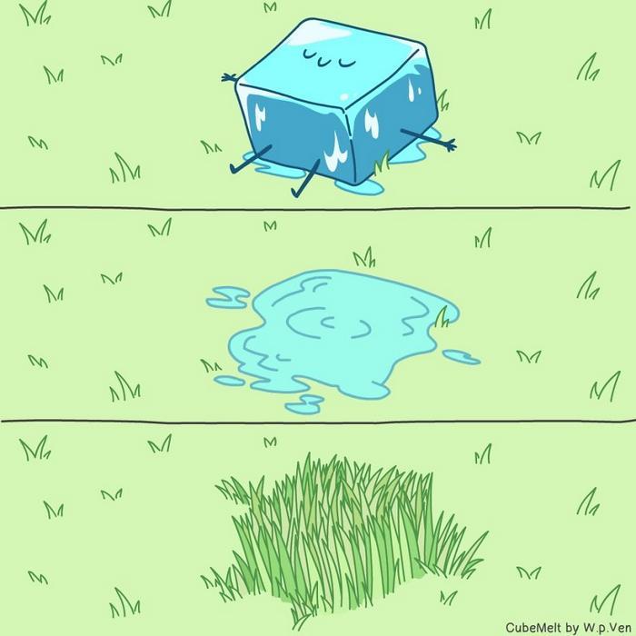 Uma história em quadrinhos sobre um cubo de gelo (36 fotos) 6