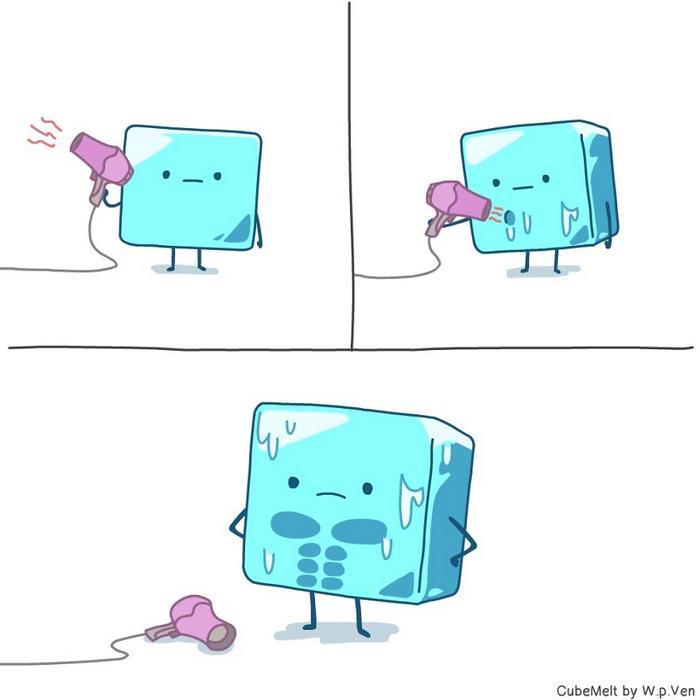 Uma história em quadrinhos sobre um cubo de gelo (36 fotos) 8