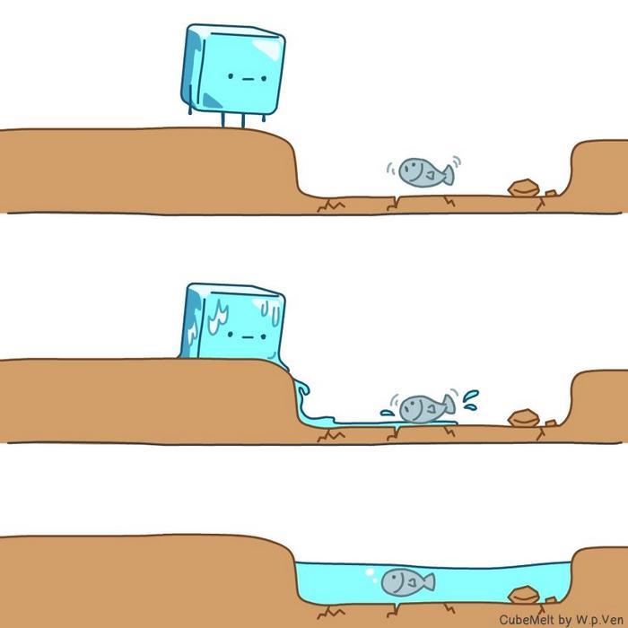 Uma história em quadrinhos sobre um cubo de gelo (36 fotos) 9