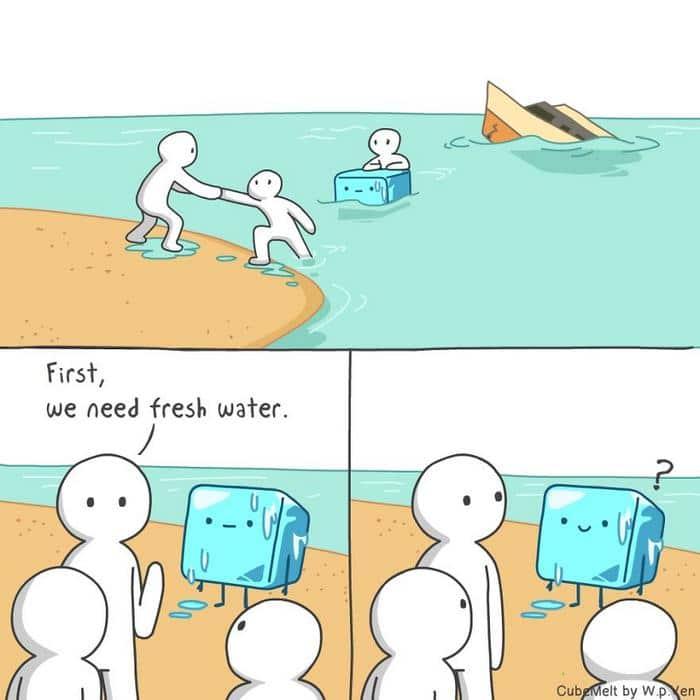 Uma história em quadrinhos sobre um cubo de gelo (36 fotos) 11
