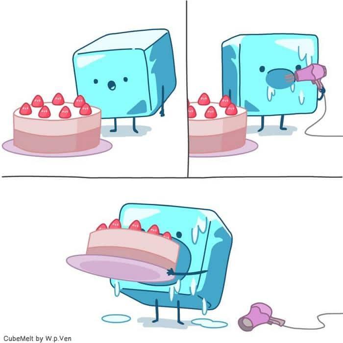 Uma história em quadrinhos sobre um cubo de gelo (36 fotos) 12