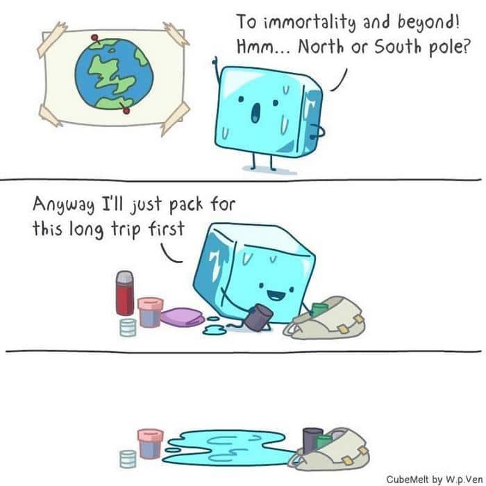 Uma história em quadrinhos sobre um cubo de gelo (36 fotos) 14