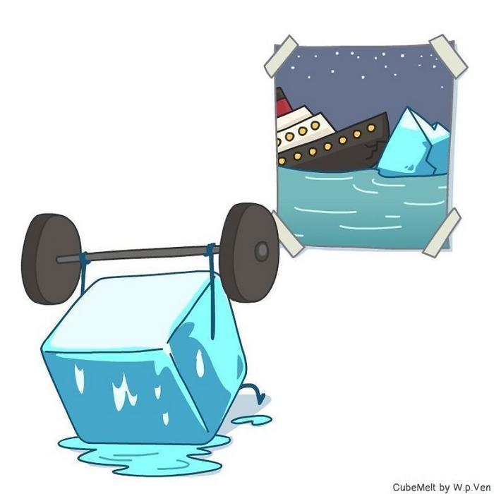 Uma história em quadrinhos sobre um cubo de gelo (36 fotos) 18