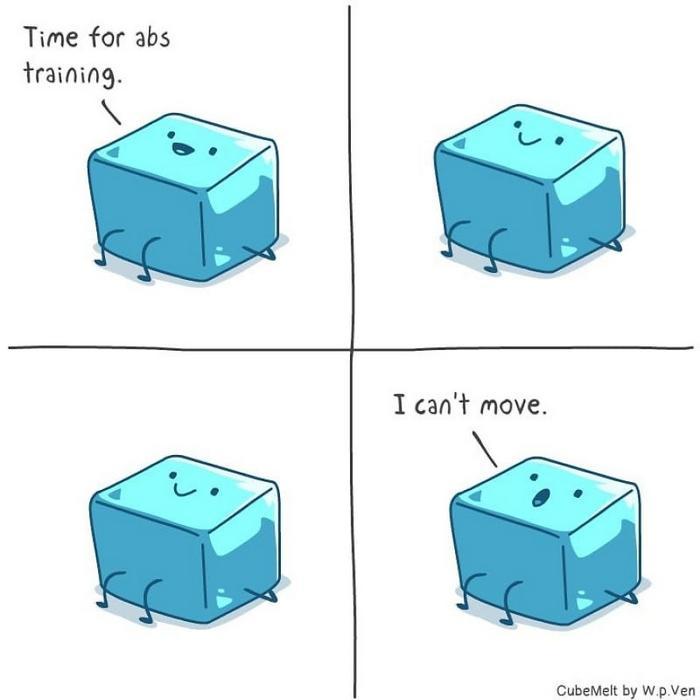 Uma história em quadrinhos sobre um cubo de gelo (36 fotos) 19