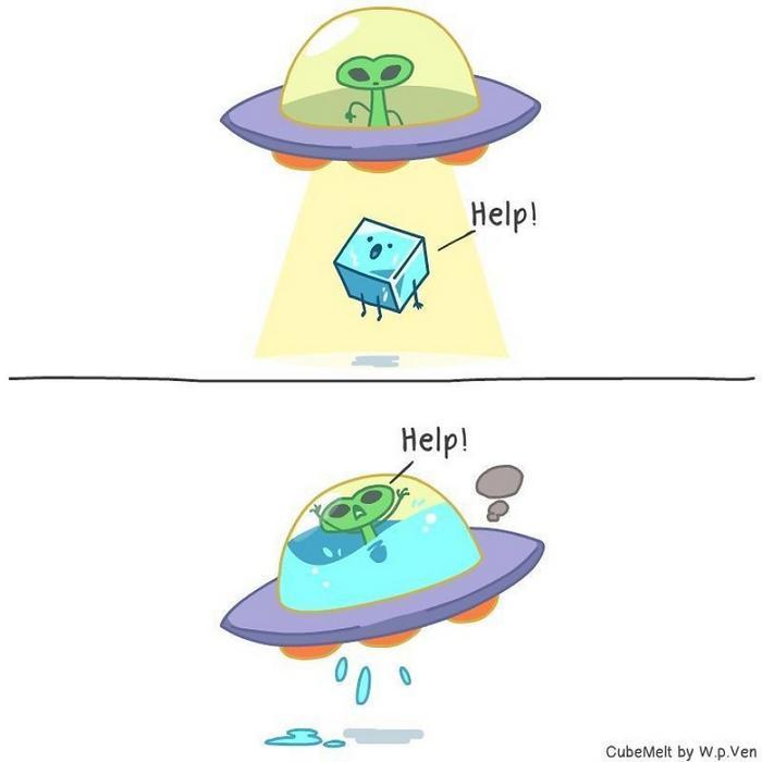 Uma história em quadrinhos sobre um cubo de gelo (36 fotos) 26