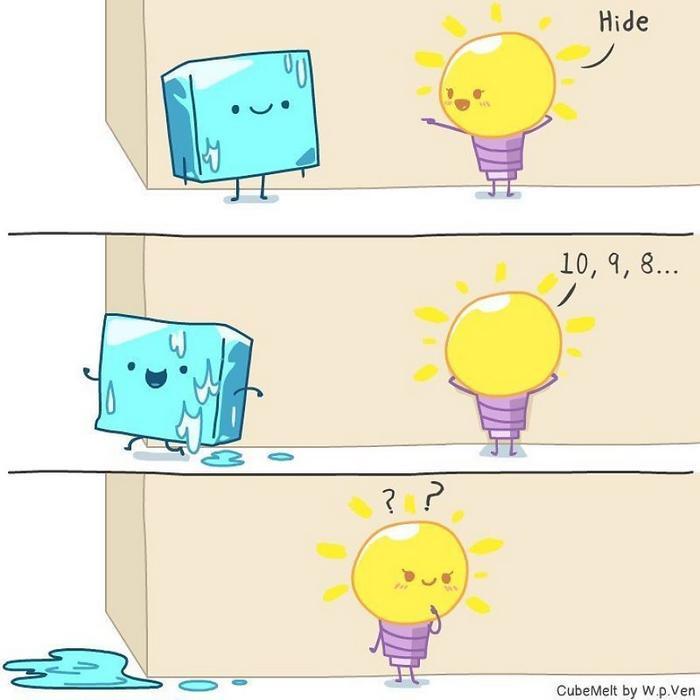 Uma história em quadrinhos sobre um cubo de gelo (36 fotos) 32