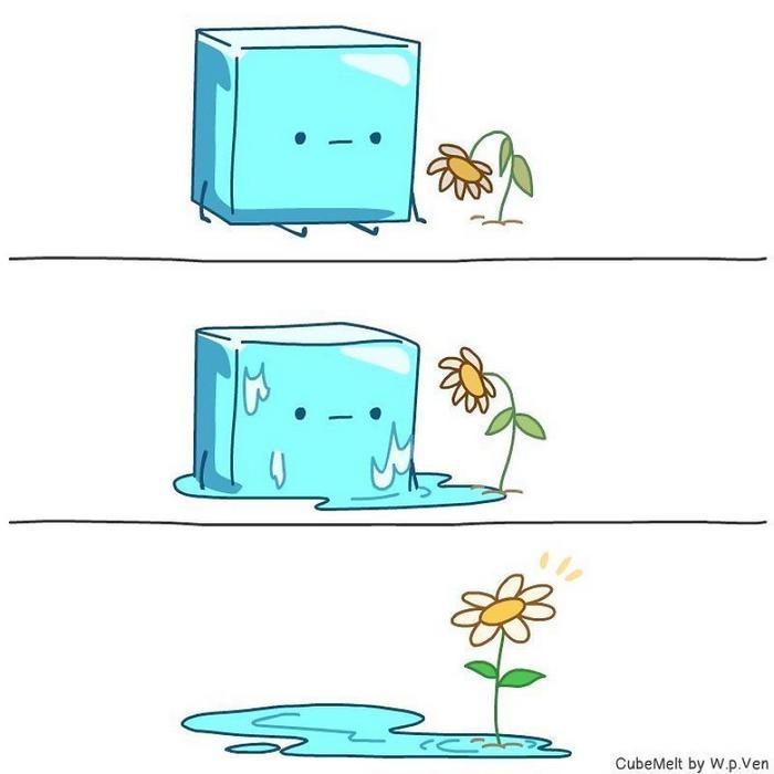 Uma história em quadrinhos sobre um cubo de gelo (36 fotos) 33