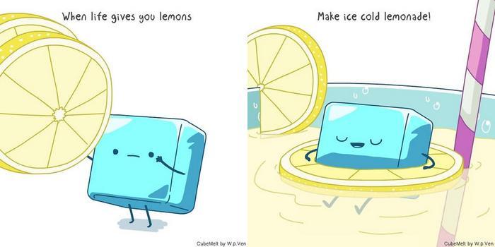 Uma história em quadrinhos sobre um cubo de gelo (36 fotos) 38