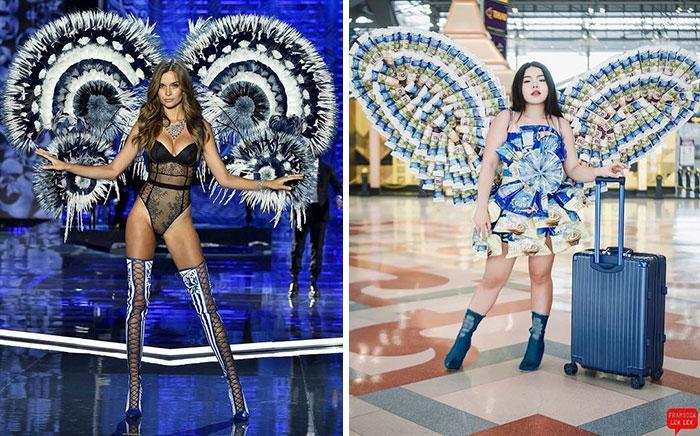 Cospobre: A tailandesa se apodera das redes com seus trajes baratos e muito criativos 11
