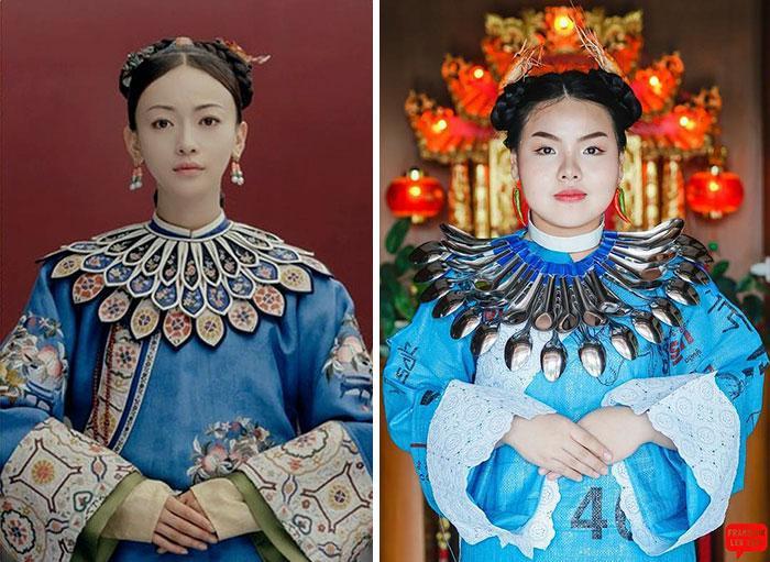 Cospobre: A tailandesa se apodera das redes com seus trajes baratos e muito criativos 13