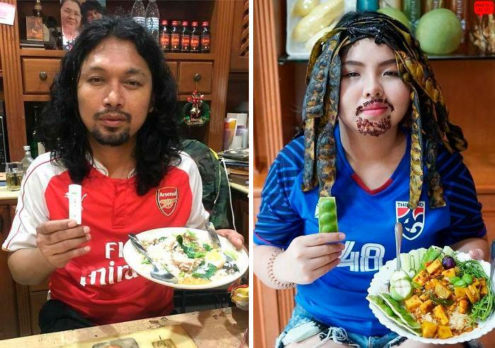 Cospobre: A tailandesa se apodera das redes com seus trajes baratos e muito criativos 23