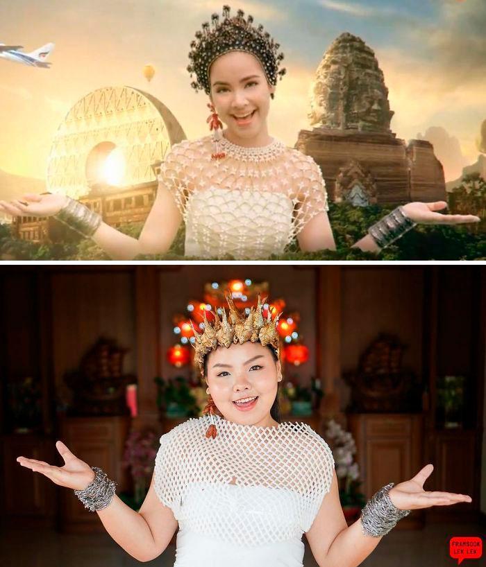 Cospobre: A tailandesa se apodera das redes com seus trajes baratos e muito criativos 24