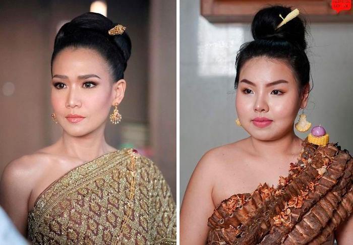 Cospobre: A tailandesa se apodera das redes com seus trajes baratos e muito criativos 26