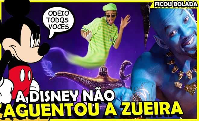 Disney não aguentou a zoação com gênio azul 4