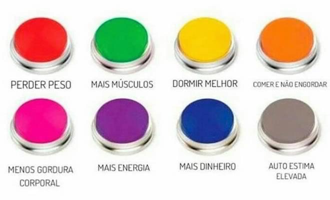 Se estes botões pudessem mudar sua vida, qual você apertaria? 8