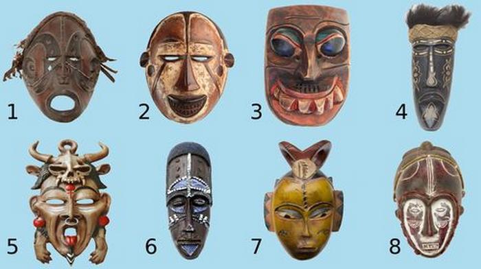 Descubra que tipo de pessoa você é, escolha uma máscara tribal 14