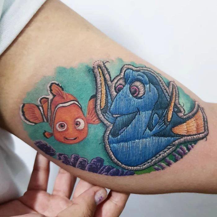 46 tatuagens de bordados que estão se popularizando no Brasil 7
