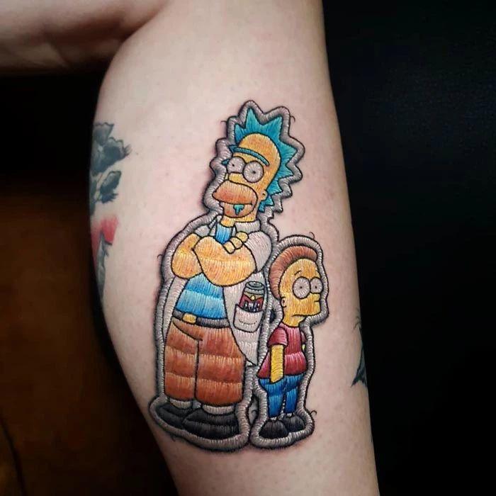 46 tatuagens de bordados que estão se popularizando no Brasil 15