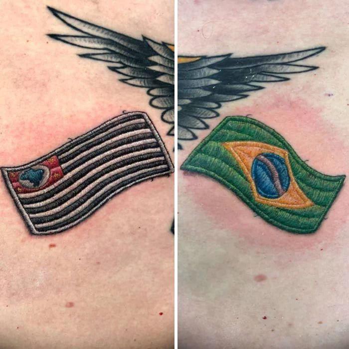46 tatuagens de bordados que estão se popularizando no Brasil 41