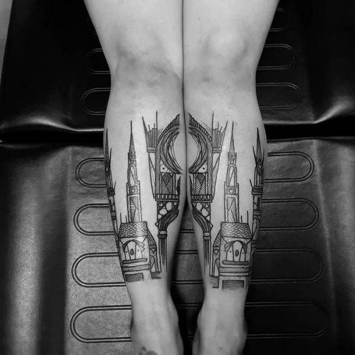 Algumas das mais incríveis tatuagens de pernas (43 fotos) 3