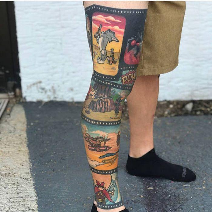 Algumas das mais incríveis tatuagens de pernas (43 fotos) 4