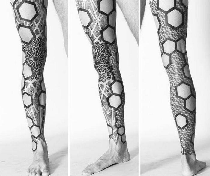 Algumas das mais incríveis tatuagens de pernas (43 fotos) 7