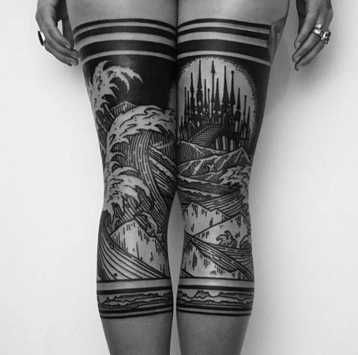 Algumas das mais incríveis tatuagens de pernas (43 fotos) 8