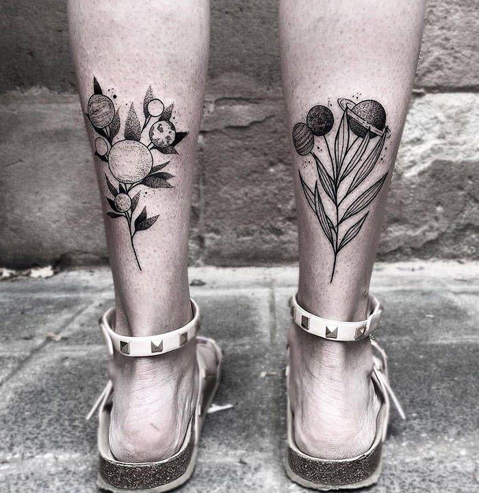 Algumas das mais incríveis tatuagens de pernas (43 fotos) 18