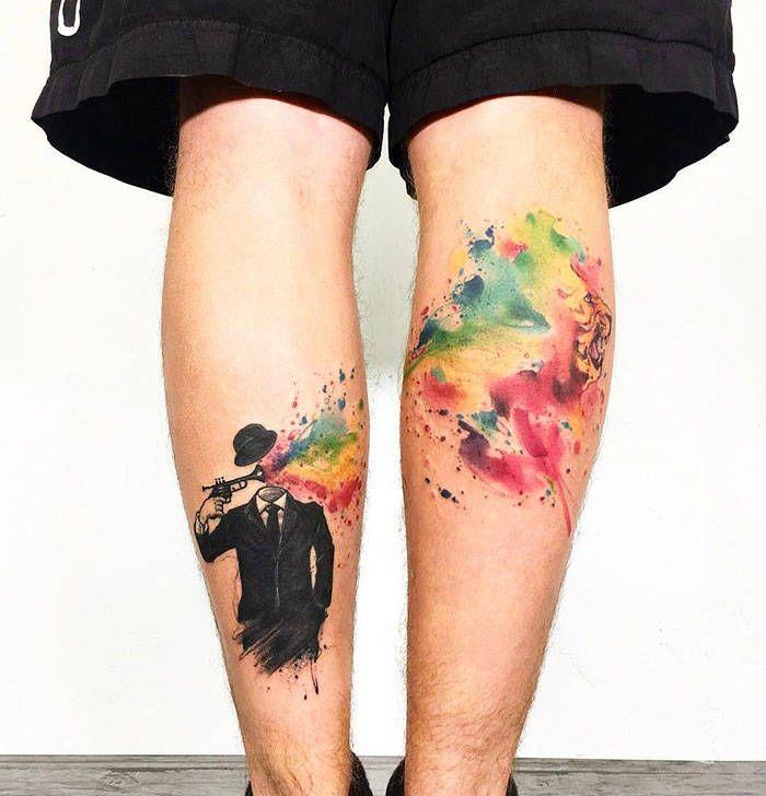 Algumas das mais incríveis tatuagens de pernas (43 fotos) 24
